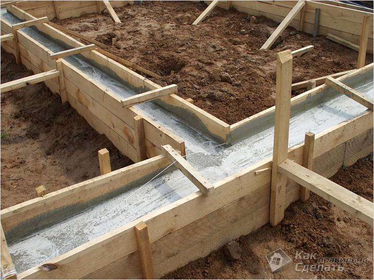 Фундамент пеноблочной бани