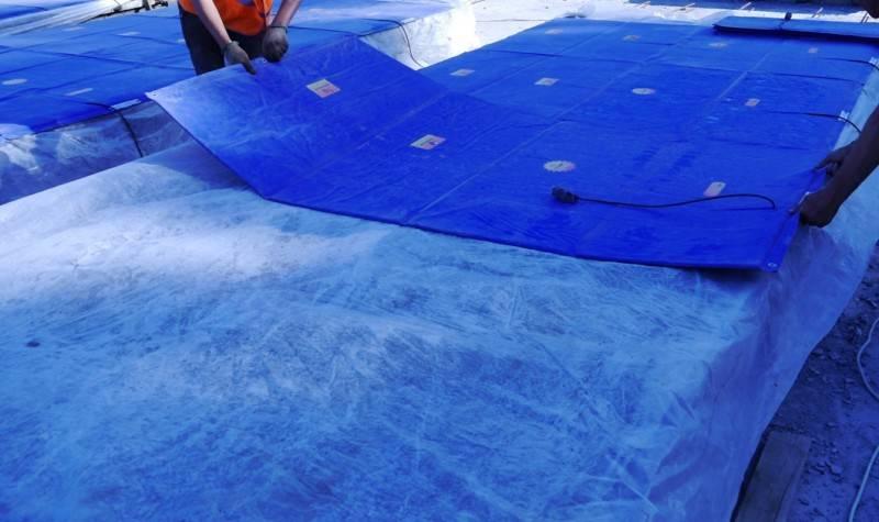 5 основных ошибок при прогреве бетона, Коломна (фото)