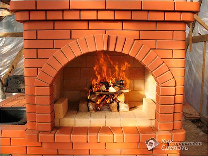 С разведенным огнем