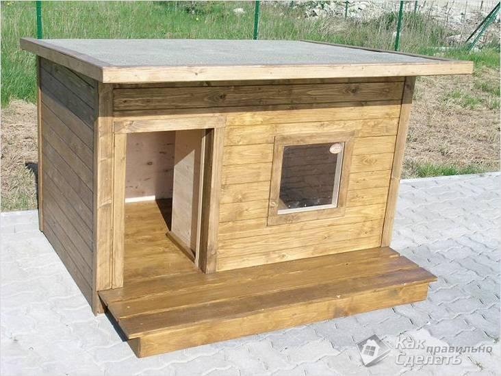 Утеплённая будка для собаки своими руками