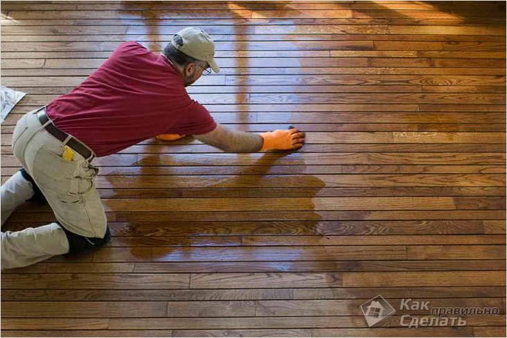 Чем покрасить деревянный пол в доме, на даче