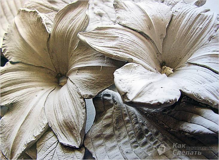 Цветы из гипса