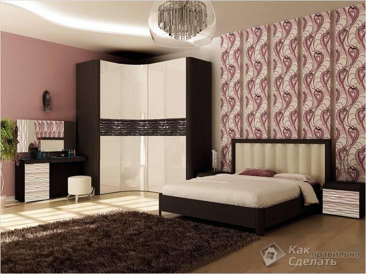 Длинноворсый ковер в спальне