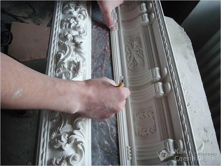 Изготовление лепнины своими руками