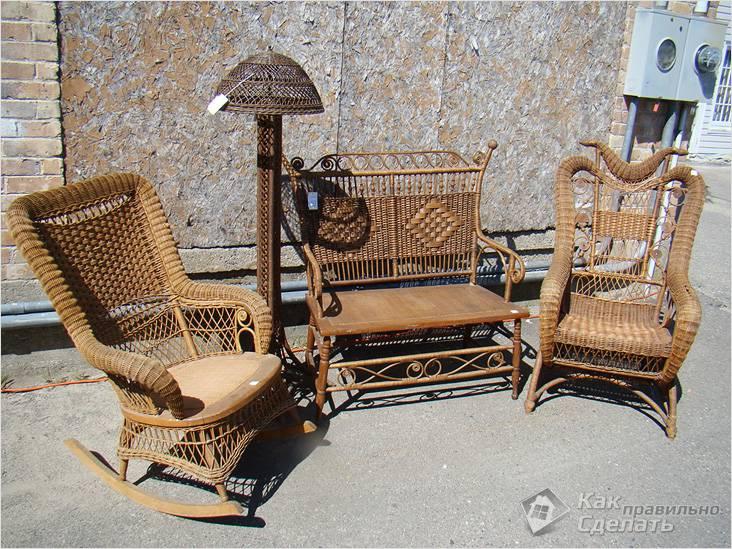 Изысканная плетеная мебель для сада