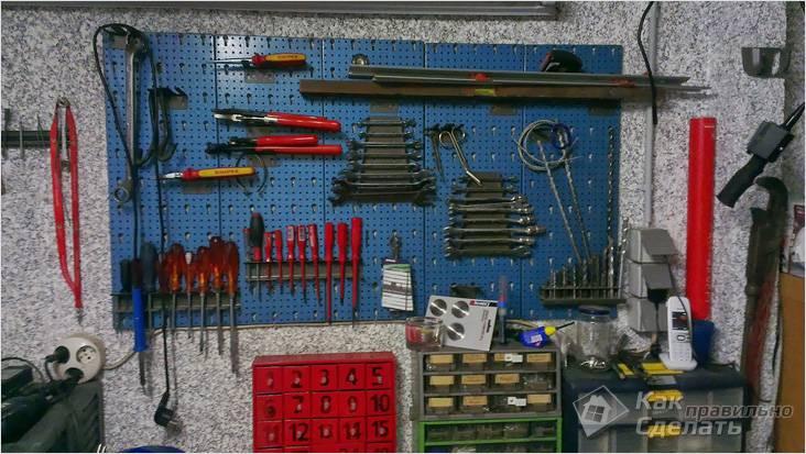 Как расположить инструменты в гараже