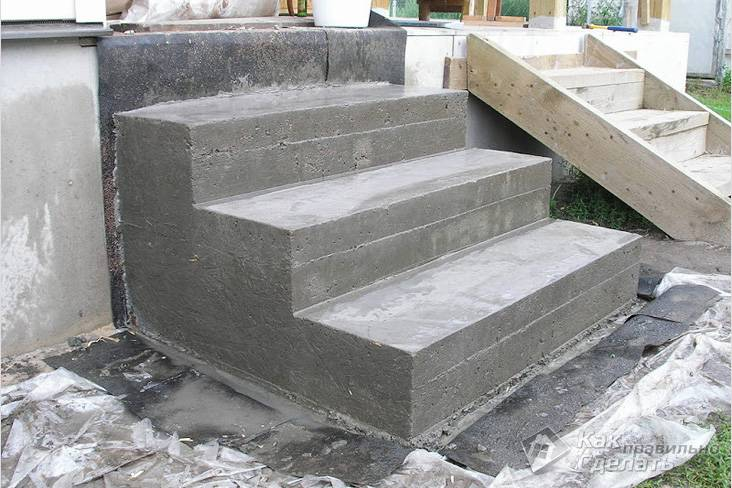 Крыльцо из бетона для частного дома купить песчано цементный раствор для фундамента