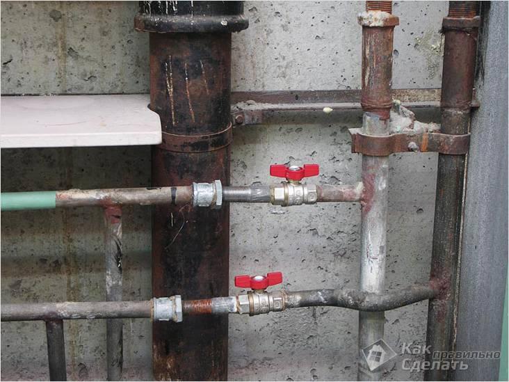 Место для установки счетчиков воды