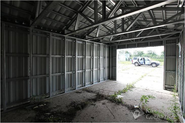Чертеж металлический гараж своими руками
