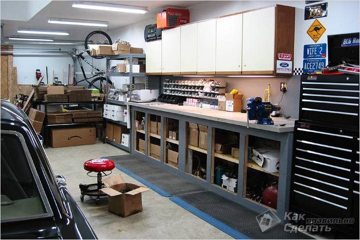 Обустройство гаража (72 фото): как обустроить и оборудовать внутри своими руками, обустраиваем подвал