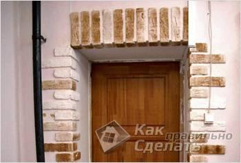 Оформление дверных проемов клинкерной плиткой