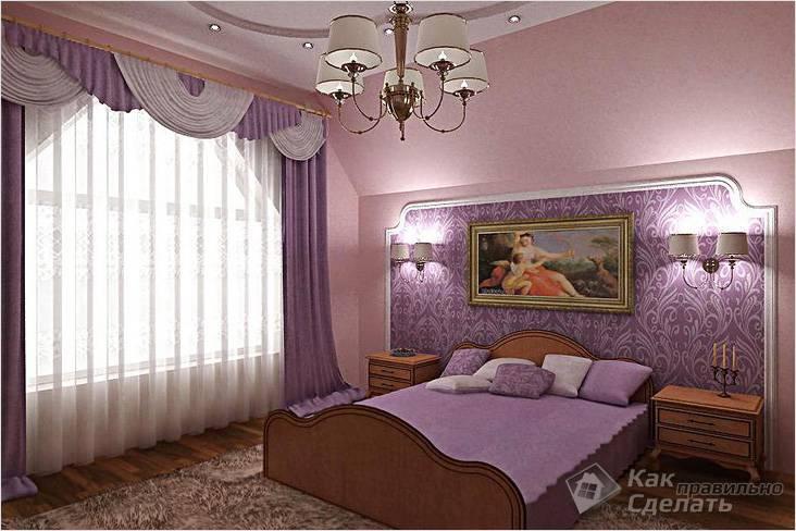Пастельные оттенки в спальне