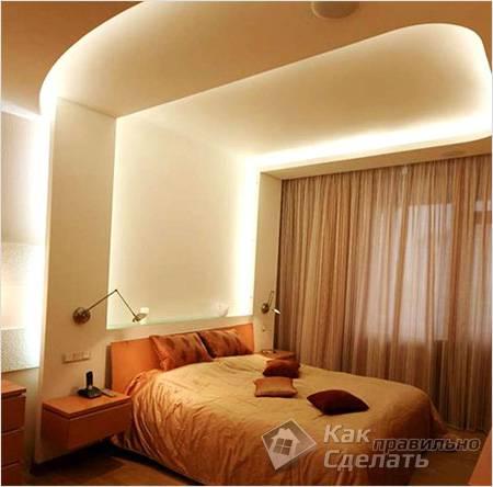 Потолочная конструкция с подсветкой
