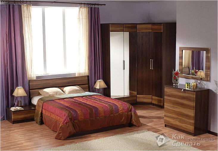 Приглушенные тона в спальне