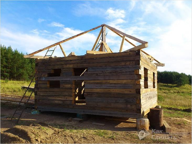Процесс строительства шатровой конструкции