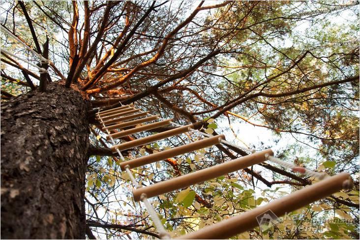 Как собрать веревочную лестницу