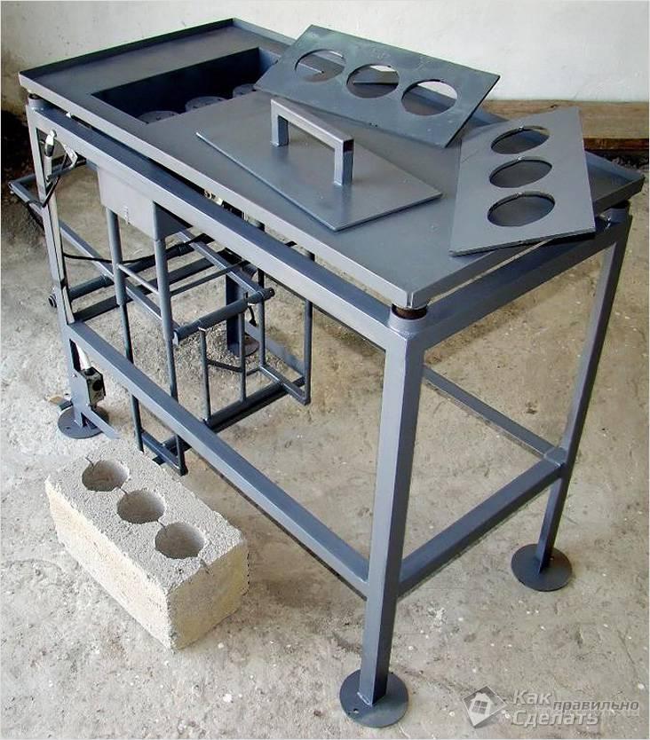 Mesa vibratória para blocos de concreto