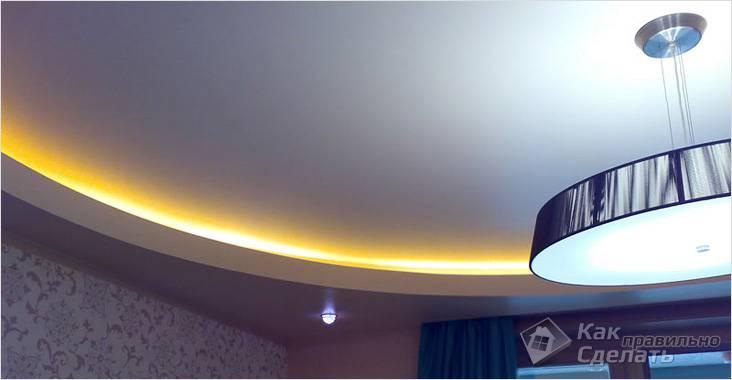 Закарнизная подсветка дюралайтом
