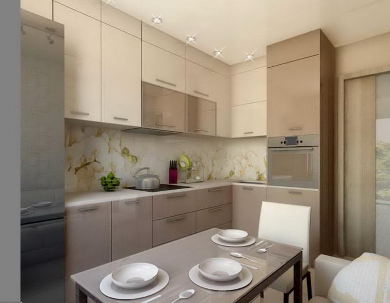 Интерьер кухни 9 кв м-примеры актуальных современных дизайнов