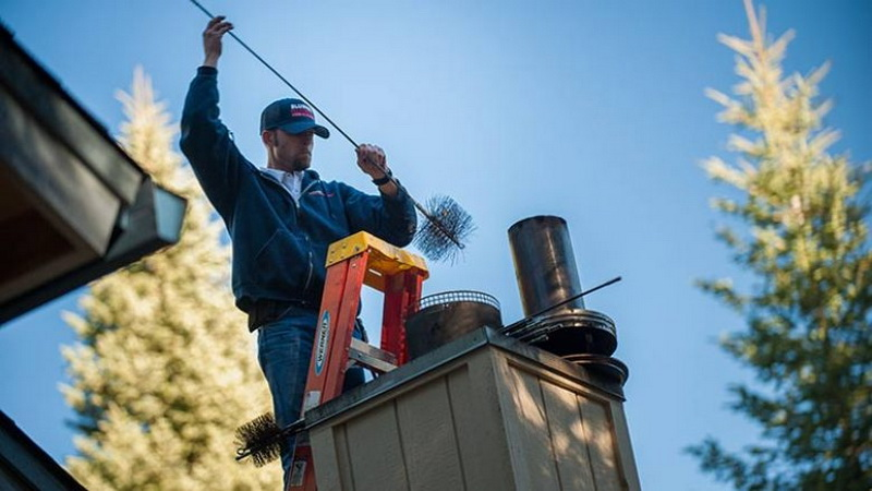 Как самостоятельно почистить дымоход