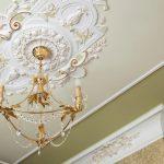 оформление потолка рококо