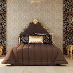 как выбрать обои в спальню в стиле рококо