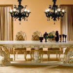 стиль рококо в столовой