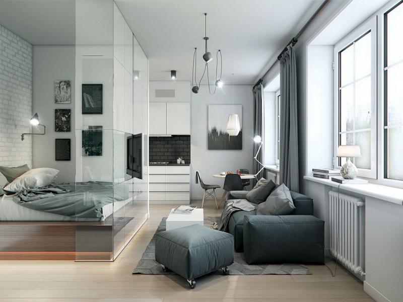 Идеи лучших дизайнов однокомнатной квартиры