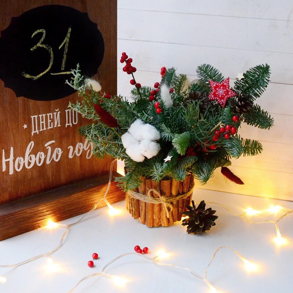 украшение офиса на новый год