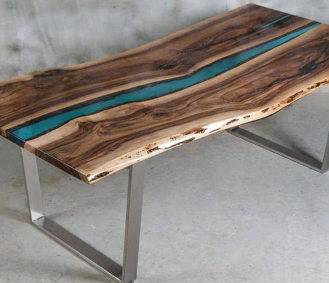 Как выбрать стол из дерева и эпоксидной смолы